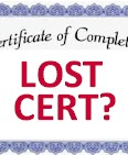 Lost Clock Hour Cert?